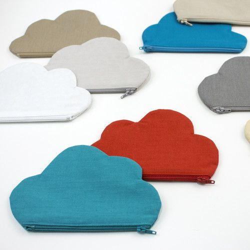 Free cloud shaped zipper pouch sewing pattern from Cloud9 Fabrics