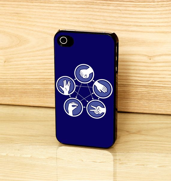 The Big Bang Theory Paper Scissors Rock Lizard Spock Case For iPhone 4 4s 5 5s 5c on Etsy, $11.18 CAD
