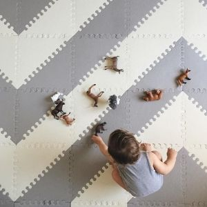 Baby & Kid Foam Play Mat Tiles - Playspot Geo | Skip Hop                                                                                                                                                     More