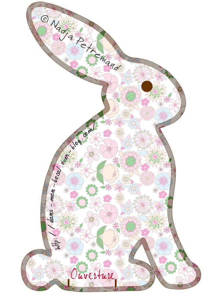 Après les lapins de papierj'ai eu envie de lapin en volume. Tester mon patron dans une chute de tissu «petites souris»imprimé chez Spoonflower  trop mimi. Et si j'en mettais plein sur mon faut...