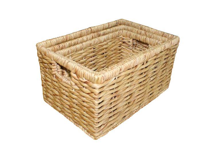 Home24h co,.ltd: S/3 Water Hyacinth Storage Basket, natural colour