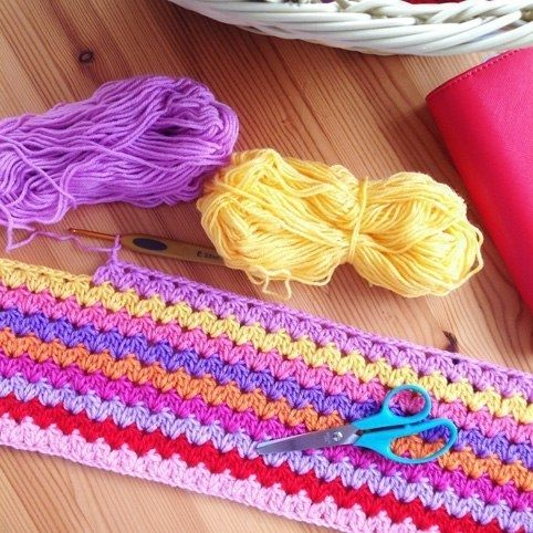 Узор для вязания пледа