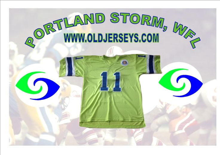 Portland Storm Replica Football Jersey (World Football League)
