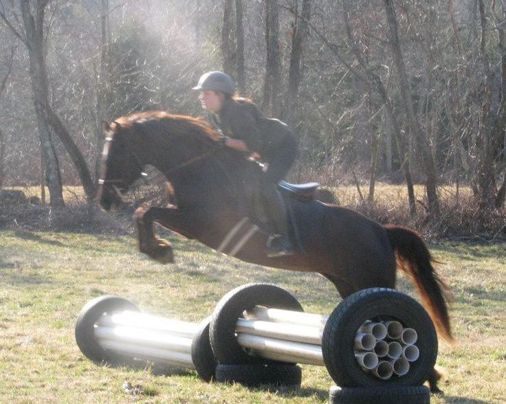 Cool jump idea :) theres lots of tires laying around the barn property.. this would be easy!