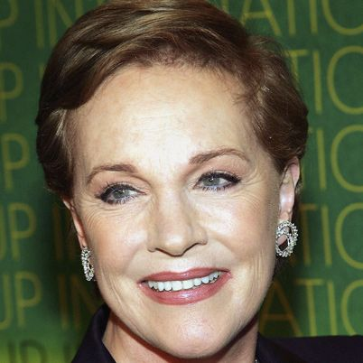 Julie Andrews. I want to be as classy as she is. Beautiful.
