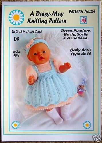 Baby Born doll knitting pattern
