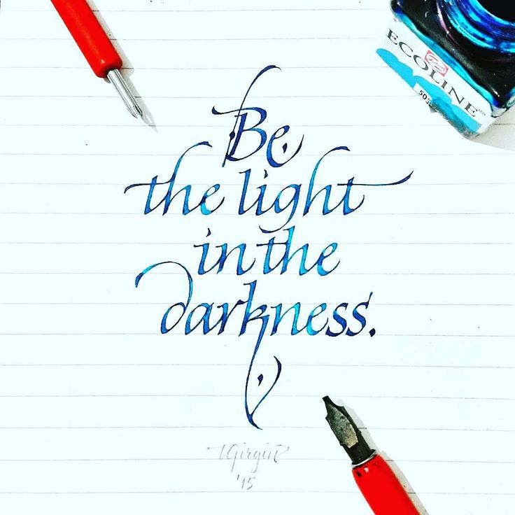 """""""@Regrann from @tolgagirgin99 -  Italic Calligraphy Quote with Brause  1.60 mm and Watercolor  #calligraphy #calligraffiti #calligritype #thedailytype…"""""""