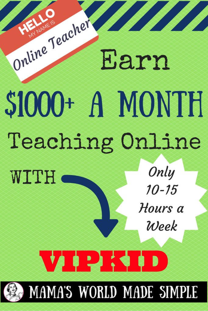 Earn 1000+ from the comfort of your own home in use 10-15 hours a week. Great for SAHMs or current teachers looking to supplement their income.