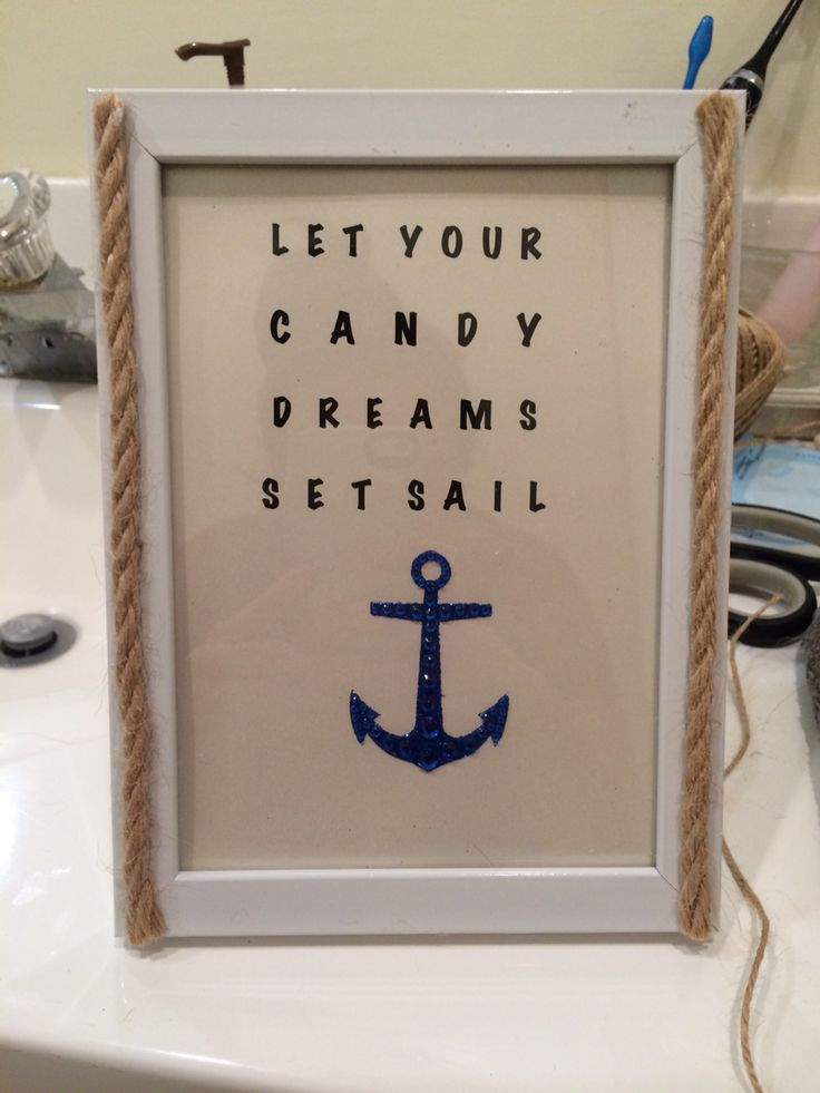 Nautical Candy Bar Signage
