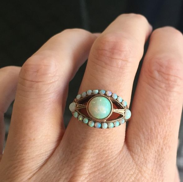 Gorgeous opal ring.