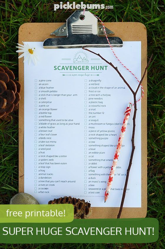 Fall Backyard Scavenger Hunt : Free printable super, mega, huge scavenger hunt! Now you have no