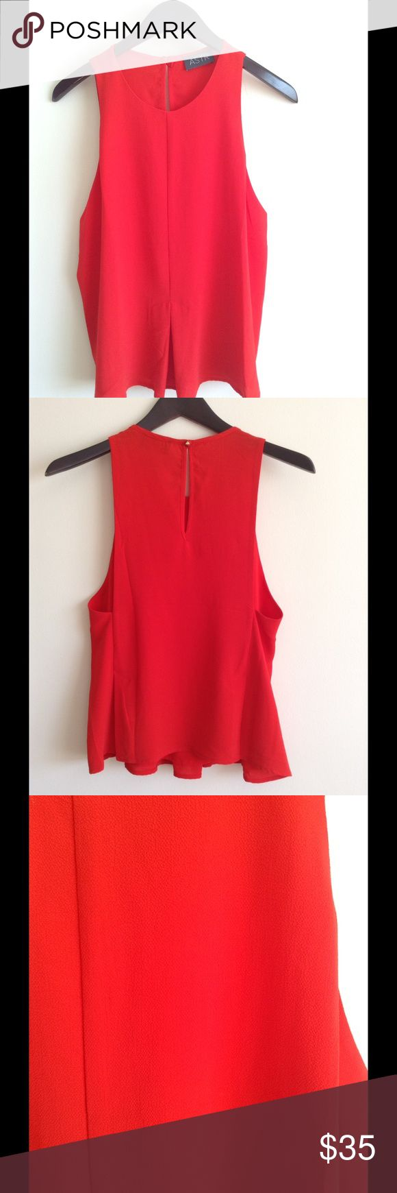 Red Astr Tank Top Brand new. Red tank top for dressy occasions Astr Tops Tank Tops