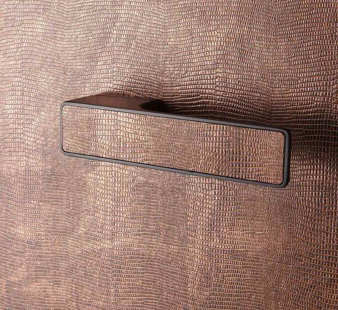 Originální interiérové kování MAXIMAL s výplní kůže - MT