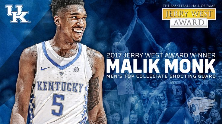 He's our all-time leading freshman scorer, and now he holds the distinction as the best shooting guard in the country for 2017. Malik Monk has been named the Jerry West Shooting Guard of the Year adding to his growing list of postseason accolades. He's the first player in program history to win the award and second to win a Naismith Hall of Fame positional award after Tyler Ulis was the Bob Cousy Award winner last year.