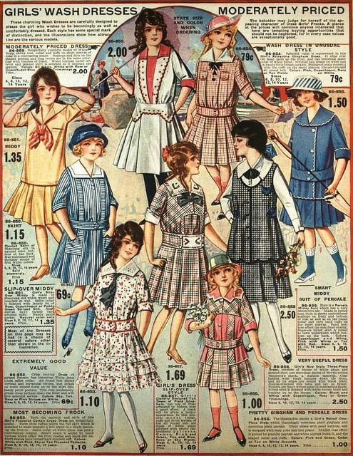 GIRLS' CLOTHING: Girls' Wash Dresses, Eaton's Spring & Summer 1917 Catalog   by The Bees Knees Daily