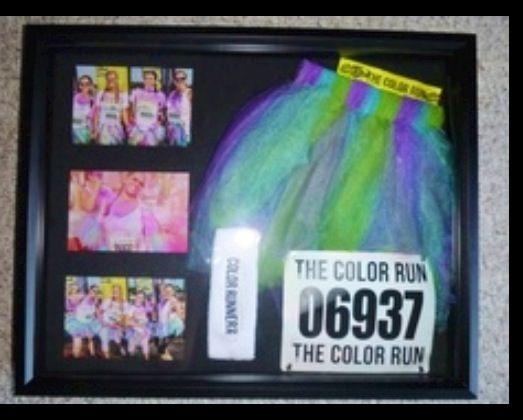 Great idea to save Color Run tutu and bib