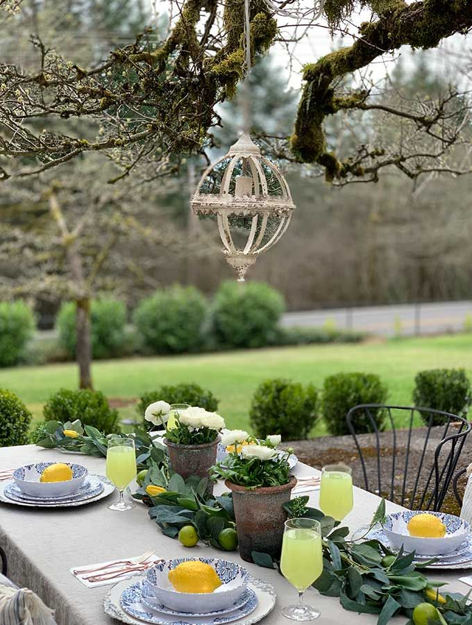 Spring Outdoor Table Ideas Hallstrom Home Spring Outdoor Decor Outdoor Table Decor Outdoor Table Centerpieces