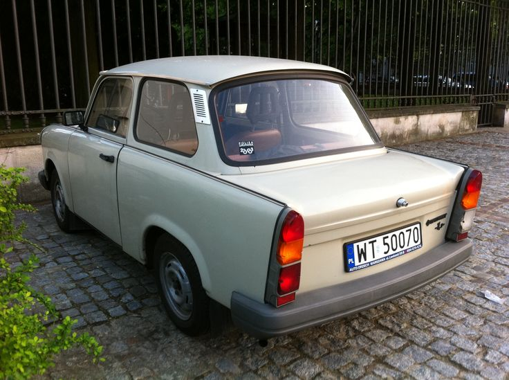 The Trabant was an East German car-like vehicle. In reality, it was more like a lunch box with the starter motor of a lawn mower as an engine