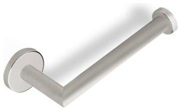 Round Toilet Paper Holder, Satin Nickel - contemporary - Toilet Paper Holders - TheBathOutlet