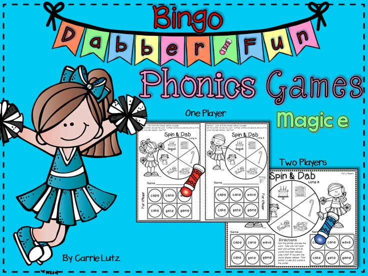 "Just SPIN and DAB or ROLL and DAB! I created Magic ""e"" Bingo Dabber games to put a little bit of fun into my students' phonics practice. The neat thing about them is that there are 2 formats. One Player ~ They can practice independently. And…. Two Players ~ They can practice with a classmate. There are also two ways to practice. With Dice or with a Paper Clip Spinner. You can also replace the Bingo Dabber with markers. I like to use Mr. Sketch instead of Bingo Dabbers sometimes. They are…"
