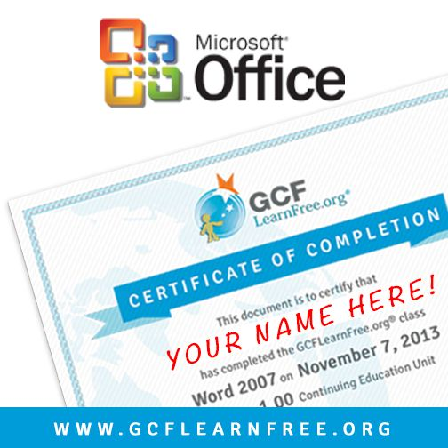 Have you been putting off getting your Microsoft #Office certificate? During the holidays, free online classes from @GCFLearnFree.org have many openings, so registration is easy and you can earn a Certificate of Completion in as little as a week!