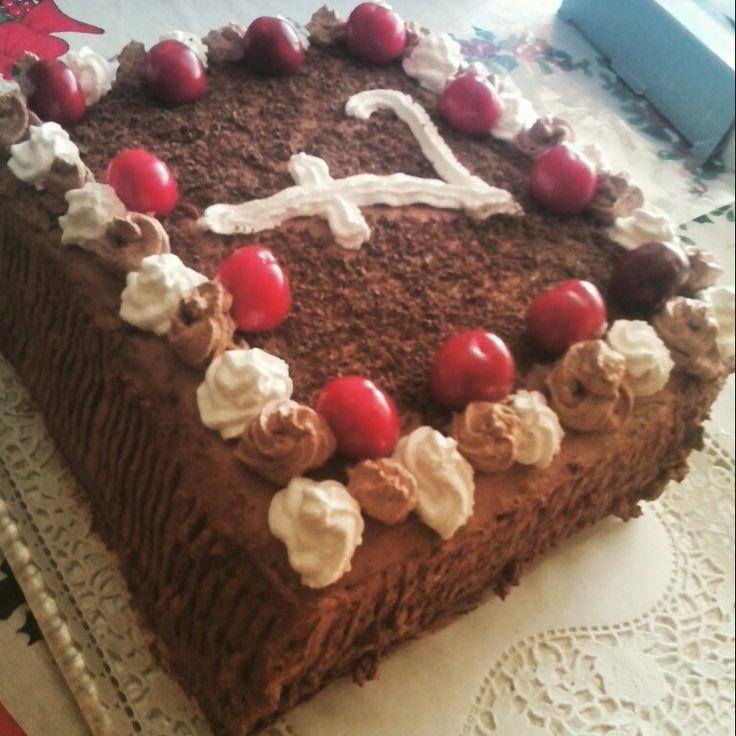 2015 schwarzwald torte für meinem Patensohn