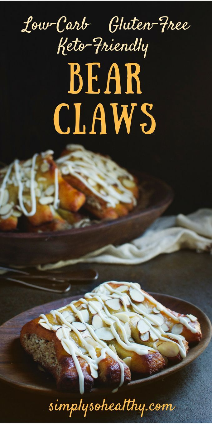 These Low-Carb Bear Claws make a delicious breakfast treat or afternoon snack. This recipe can be part of a low-carb, ketogenic, Atkins, gluten-free, grain-free, lc/hf, or Banting diet.