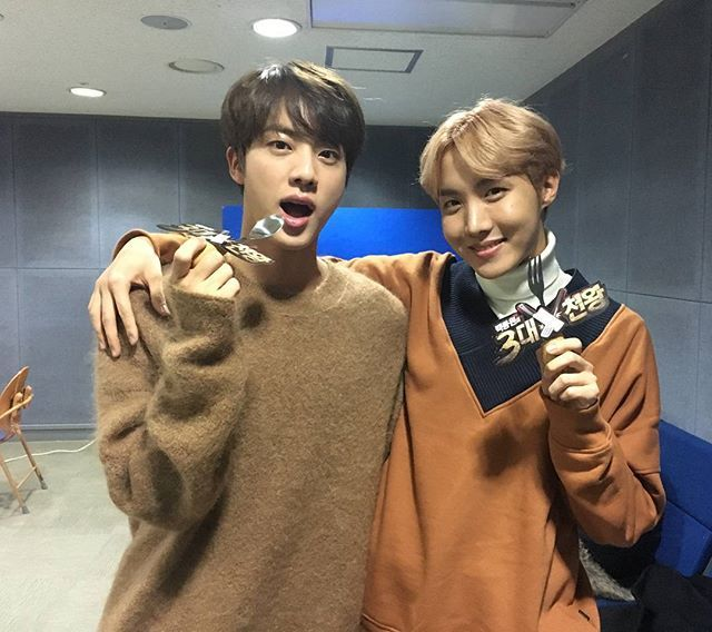 "Jin and J-Hope on ""Baek Jong Won's Top 3 Chef King"" cooking show ❤ (sbs_3king IG Update) #BTS #방탄소년단"