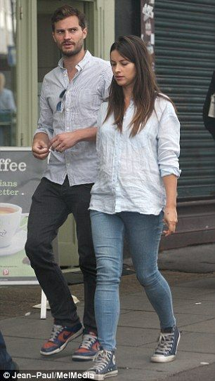 We're expecting: Jamie Dornan and Amelia Warner are said to be 'thrilled'