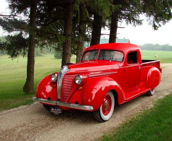 Red 1937 Hudson Terraplane pick up truck