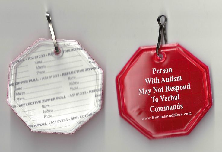 Autism ZipperPull Tag - help keep your child safe