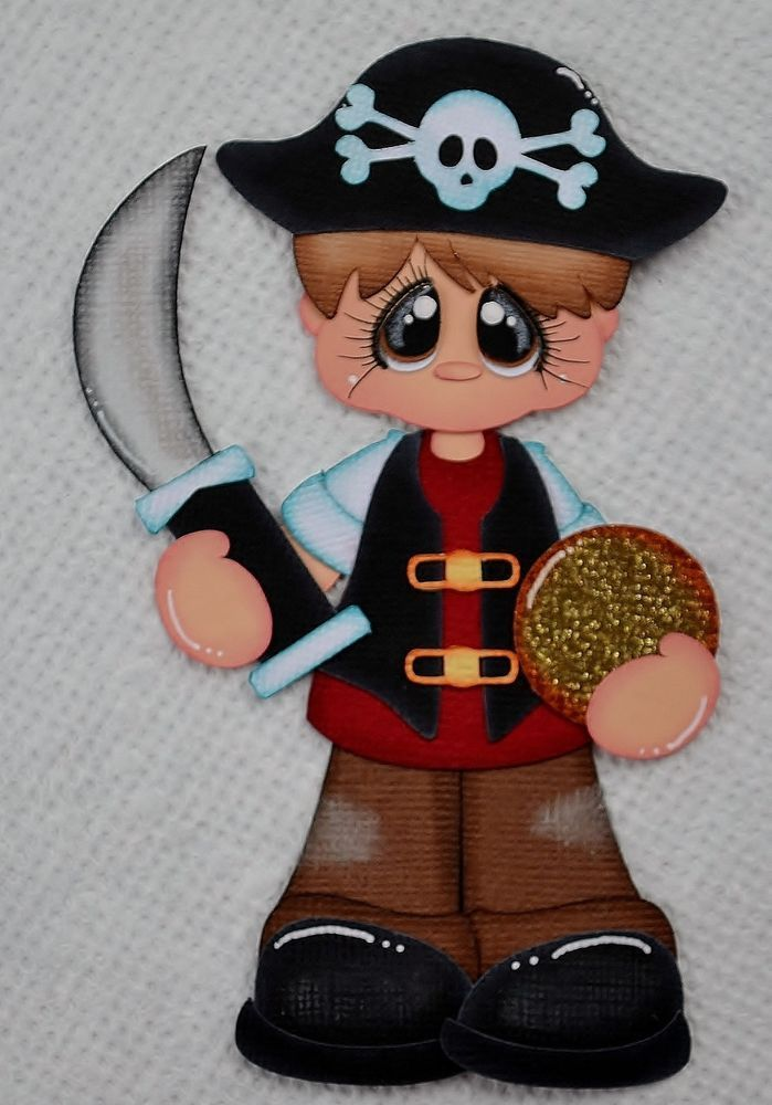 Pirate boy Paper piecing for Scrapbook Pages, Layout, Album by Jess