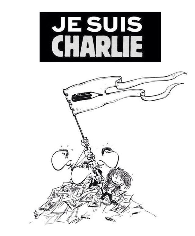 Dessin hommage Charlie hebdo