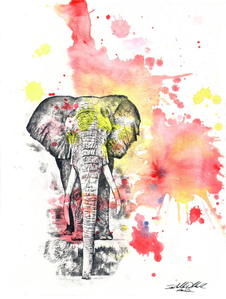 Elephant Art Animal Watercolor Painting - 8 X 10 in, print Great Children Kids Baby Nursery Room Decor Art. $18.00, via Etsy.