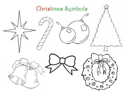 christmas symbols coloring pages - photo#17