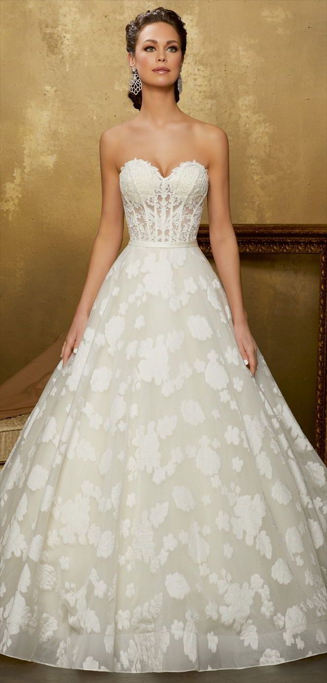 Best Strapless Gowns Images On Pinterest Wedding Dressses