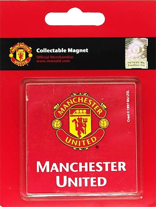 Manchester United Club Crest Square Fridge Magnet