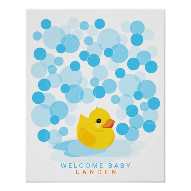 Rubber Ducky Baby Shower Guest Book Print Zazzle Com Rubber Ducky Baby Shower Baby Shower Guest Book Ducky Baby Showers