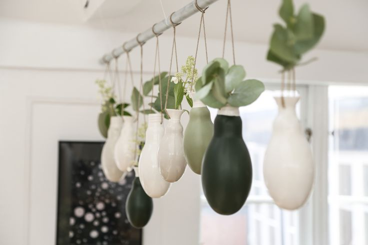Hanging vases from the norwegian brand MENT.   Photo by Sonoma Seven / www.sonomaseven.dk