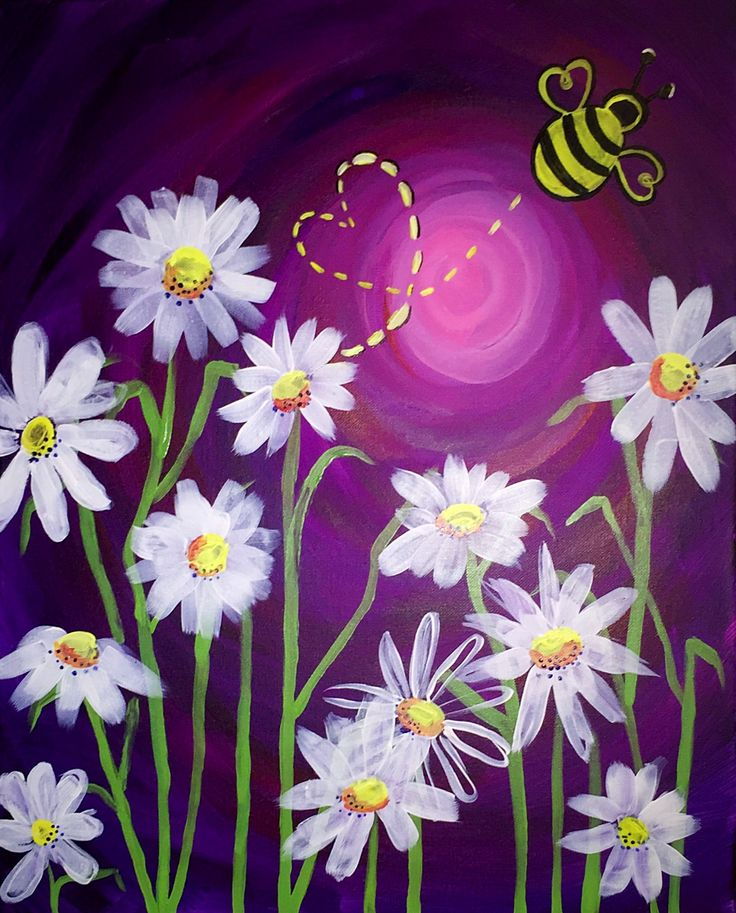 10 best ideas about daisy painting on pinterest daisy for Fairy painting easy