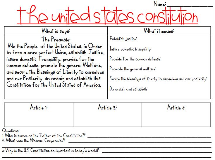 What the Teacher Wants!: Constitution Day!