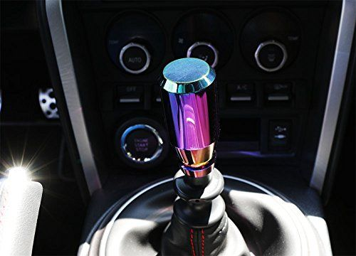 iJDMTOY JDM Neo Chrome Manual or Automatic Shift Knob, Universal Fit For Honda Acura Mazda Mitsubishi Nissan Infiniti Lexus Toyota Scion, etc