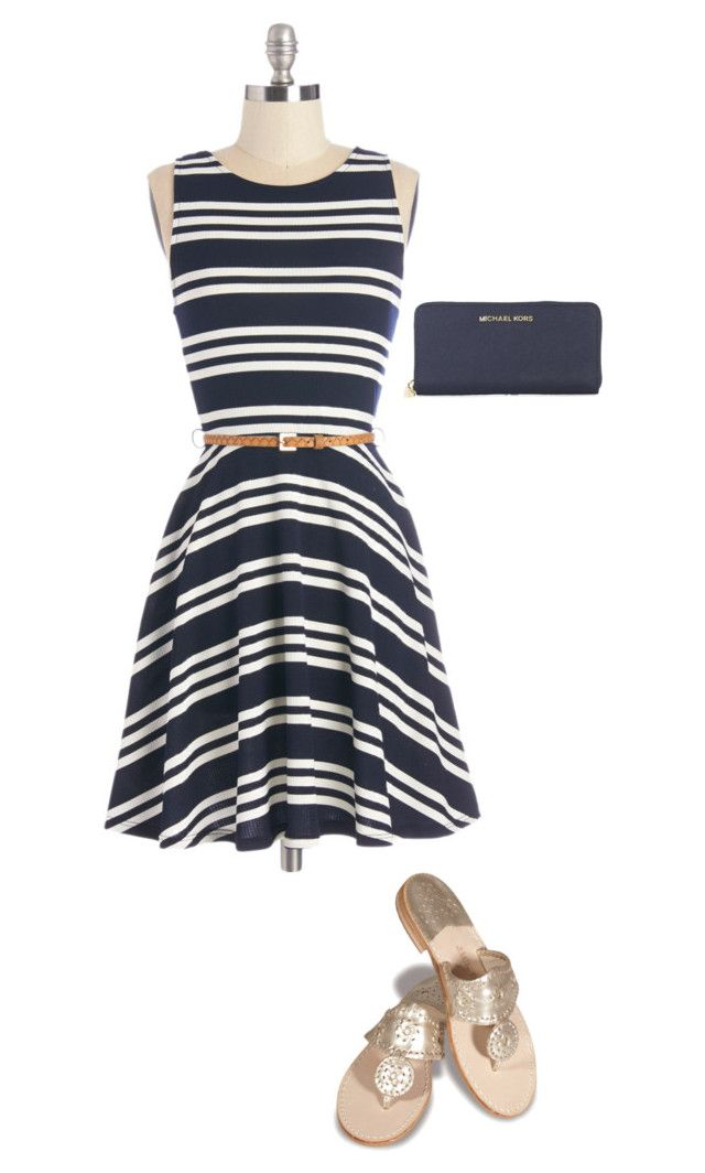 """""""Cocktail Party"""" by lariho ❤ liked on Polyvore featuring Michael Kors and Jack Rogers"""