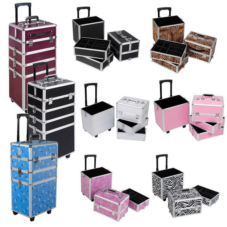 Large Beauty Trolley Makeup Vanity Case Hairdressing Box Nail Tech Storage Salon