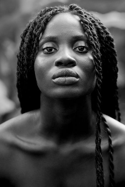This picture really holds the strength of femininity♀Woman Portrait face of black lady By Mark Gellineau