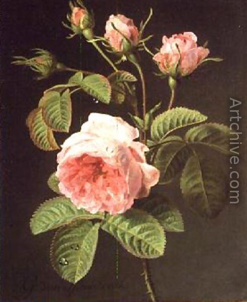 A Branch of Roses - Cornelis van Spaendonck