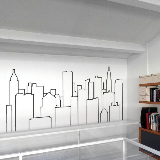 Sticker murali per decorare la casa: skyline New York