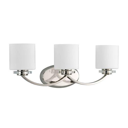 Progress Crystal Bathroom Light with Clear Glass | P2014-104 | Destination Lighting