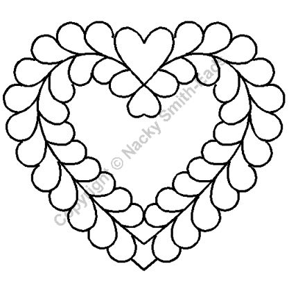 Free Heart Quilting Stencils : 141 best images about Free Motion Quilting on Pinterest Machine quilting, Free motion quilting ...