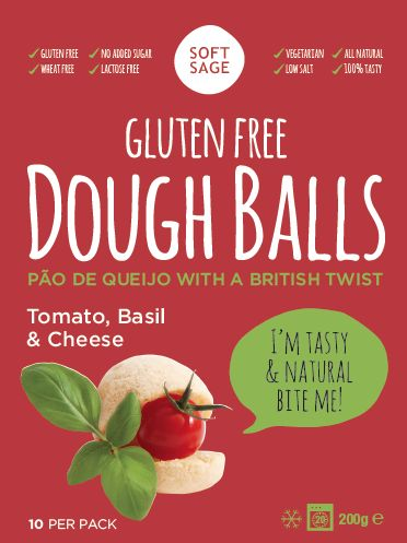 Gluten Free & Vegetarian dough balls, Basil, Cheese & Tomato *glutenfree *vegetarian www.softsage.co.uk